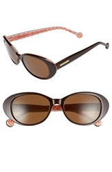 Women's Jonathan Adler 'Palm Beach' 53Mm Cat Eye Sunglasses Brown