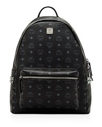 Mcm Stark Studded Backpack Black