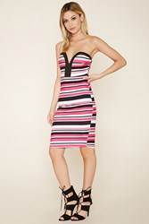 Forever 21 Strapless Striped Bodycon Dress