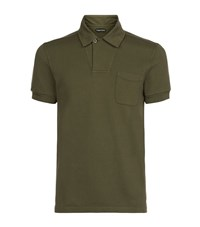 Tom Ford Pique Polo Shirt Male Olive