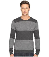 Rvca Channels Crew Charcoal Heather Men's Sweater Gray