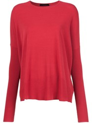 Victor Alfaro Dolman Sleeve Jumper Red