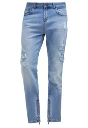 Drmtm Slim Fit Jeans Blue Bleached Denim