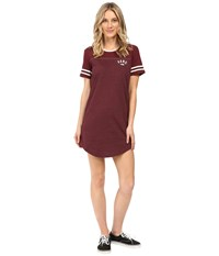 Vans North 45 Tee Dress Port Royale Women's Dress Burgundy