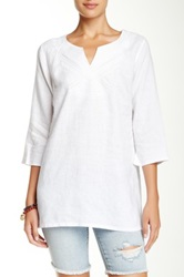 Tommy Bahama Two Palms Embroidered Linen Tunic White