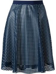 Roberto Collina Laser Cut Full Skirt Blue