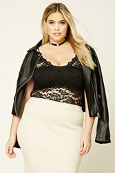 Forever 21 Plus Size Sheer Lace Bodysuit