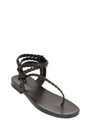 Haider Ackermann Braided Leather Sandals Black