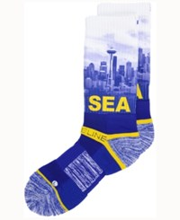 Strideline Seattle City Socks Ii Yellow Navy