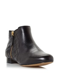 Dune Quest Quilted Leather Booties Black