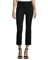 Rebecca Taylor Straight Cropped Suit Pant Black