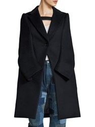 Junya Watanabe Wool And Cashmere Cape Coat Navy