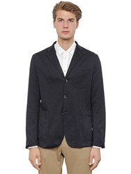 Barena Raw Cut Cotton Jersey Blazer