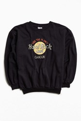 Urban Outfitters Vintage Hard Rock Cafe Cancun Crew Neck Sweatshirt Black