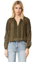 Ramy Brook Whitney Blouse Urban Green