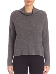Milly Cowlneck Cashmere Blend Sweater Grey