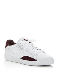 Puma Match Lo Basic Sports Lace Up Sneakers White Winetasting