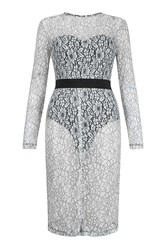 Rare Long Sleeve Lace Dress By Black