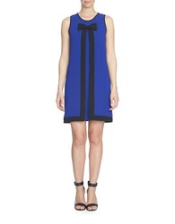 Cece Inverted Pleat Colorblock Shift Dress Sapphire