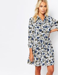 Fashion Union Shirt Dress In All Over Floral Print Multi