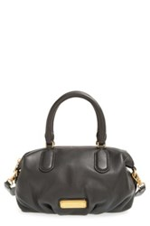 Marc By Marc Jacobs New Q Small Legend Pebbled Leather Satchel Black