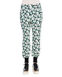Stella Mccartney Floral Print Harem Pants Black