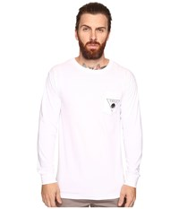 O'neill Sunspot Long Sleeve Screens Impression T Shirt White Men's T Shirt