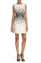Kate Spade Women's New York Hydrangea Embellished Fit And Flare Dress Light Shale