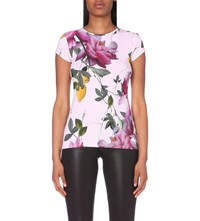 Ted Baker Alicie Citrus Bloom Jersey T Shirt Pink
