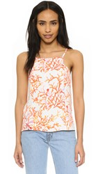 Cooper And Ella Trisha Top Abstract Coral