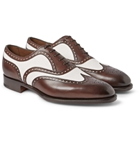 Edward Green Malvern Two Tone Leather And Suede Wingtip Oxford Brogues