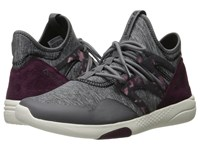 Reebok Hayasu Shark Mystic Maroon Chalk Black Women's Cross Training Shoes Gray