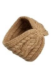Women's Michael Michael Kors Cable Knit Headband Beige Dark Camel
