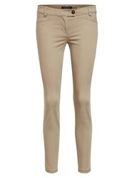 Marc O'polo Laxa Casual Trousers Sateen Stretch Beige