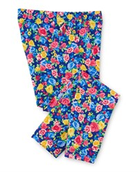Ralph Lauren Childrenswear Floral Jersey Leggings Blue Pink Size 2 6X Girl's Size 5