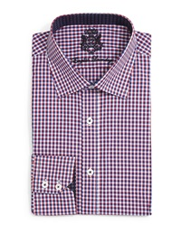 English Laundry Mini Check Dress Shirt Red Navy