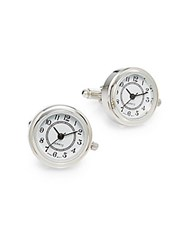 Saks Fifth Avenue Watch Dial Cuff Links Silver