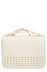 Big Buddha Studded Crossbody Bag White Bone