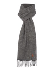Original Penguin Patterned Scarf Grey