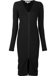 Veronica Beard V Neck Fitted Dress Black