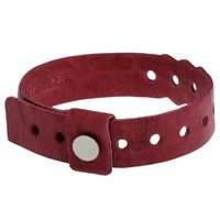 Cast Of Vices Leather Concert Bracelet Burgundy