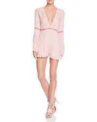 For Love And Lemons Lilou Floral Romper Dusty Pink