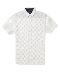 Bravesoul Brave Soul All Over Micro Print Short Sleeve Shirt White