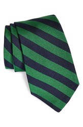 Gitman Brothers Vintage Men's Stripe Silk Tie Green