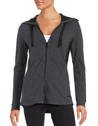 Marc New York Mesh Accented Hoodie Charcoal