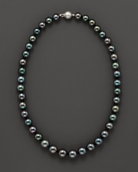 Bloomingdale's Tahitian Black Pearl Necklace 18 No Color