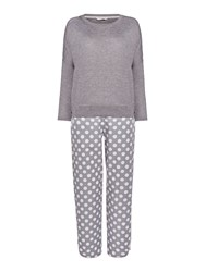 Cyberjammies Spot Pant With Knitted Top Pyjama Set Grey