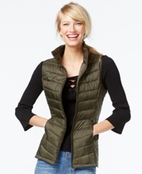 Inc International Concepts Packable Puffer Vest Only At Macy's Night Moss