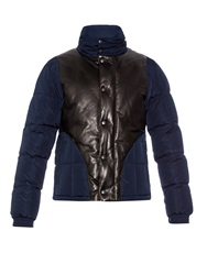 Alexander Mcqueen Leather And Nylon Quilted Down Jacket