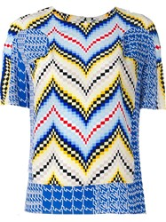 Kenzo Chevron And Diagonal Stripes Top Multicolour